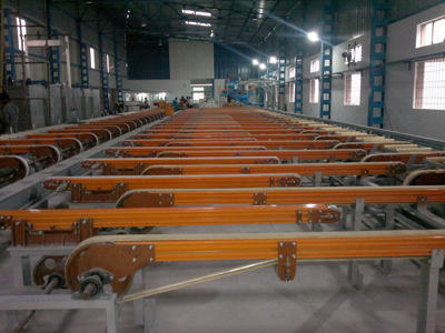 Complete Extrusion Section Handling Line